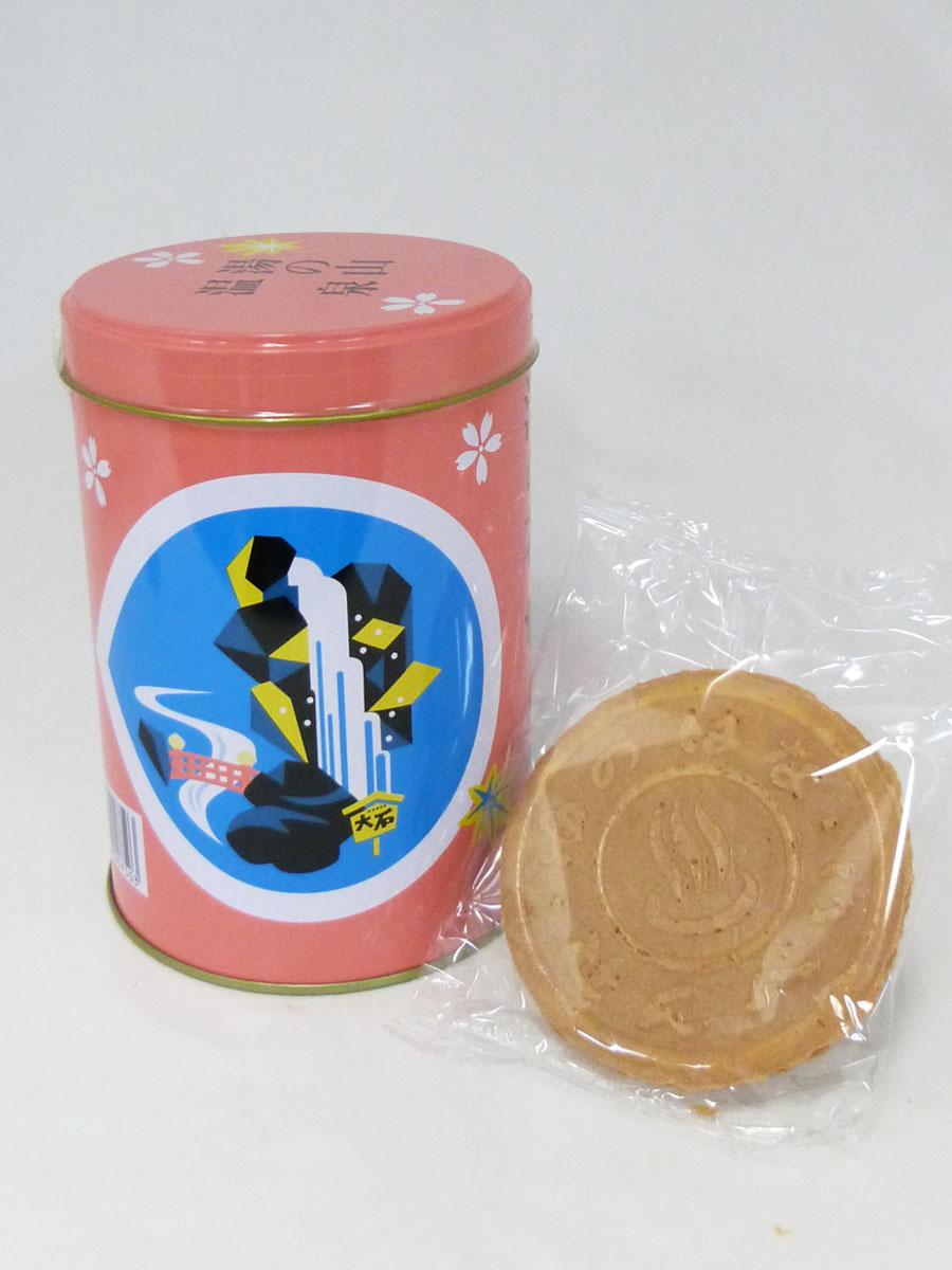 湯の花せんべい(ピンク丸缶)